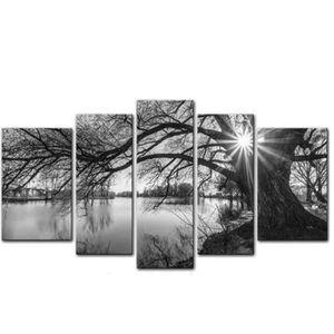 tableau paysage noir et blanc achat vente pas cher. Black Bedroom Furniture Sets. Home Design Ideas