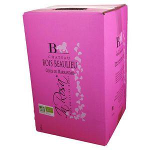 VIN ROUGE Bag-in-Box 10L Château Bois Beaulieu Rosé AOC Côte