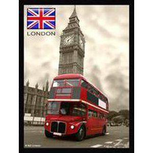 plaque metal 40x30cm londres bus imperial et big ben achat vente tableau toile m tal. Black Bedroom Furniture Sets. Home Design Ideas
