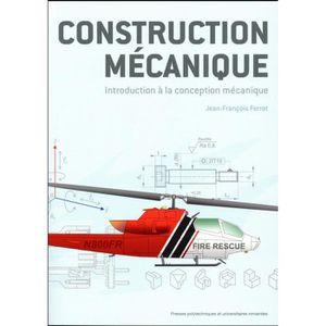 Livre Construction Mécanique Achat Vente Livre Parution Pas