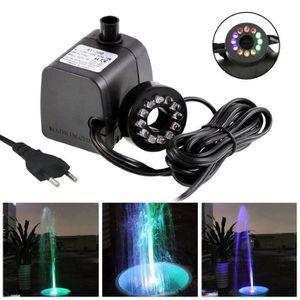 POMPE ARROSAGE Pompe à eau Fontaine LED Lumière Submersible Aquar