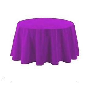 NAPPE DE TABLE Nappe polyester ronde D180 cm violette 491929d43ae