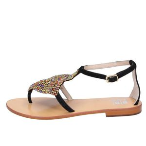 SANDALE - NU-PIEDS BIBI LOU Chaussures Femme Sandale daim Noir BT767