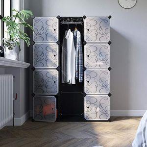 ARMOIRE DE CHAMBRE Songmics® Armoire Penderie Cubes, Etagère de range