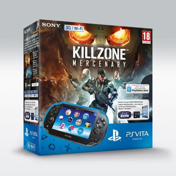 CONSOLE PS VITA PS Vita WiFi+Coupon Killzone Mercenary+CM  8 Go