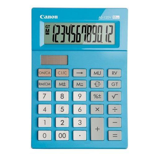 CANON - Calculatrice de bureau bleue 12 chiffres