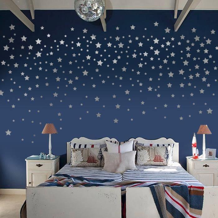 Mode étoiles Stickers muraux enfants Chambre bébé bricolage Wall Art  Décoration d\'intérieur autocollant @hu2776