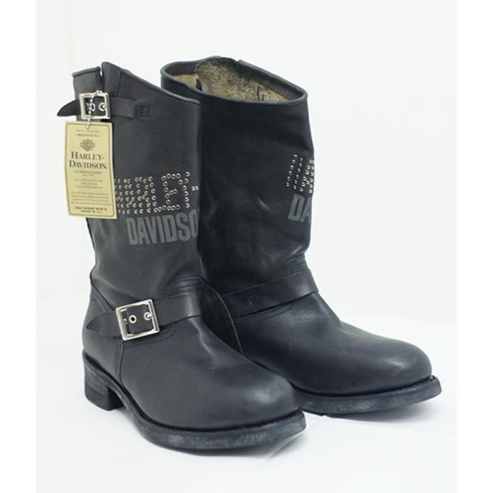 Bottes cuir Workers Boot 976 Vintage Neri Orig. Harley Davidson x Motociclisti Biker réf HDE101050 I8WAJo6qTR