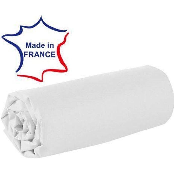 Drap Housse 120x190 Cm 100 Coton 57 Fils Franc Achat Vente