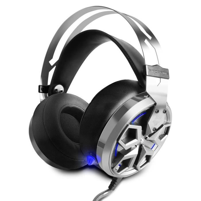 Extrêmement Micro Casque Audio PS4 Gamer Filaire Professionnel At First Sight  QN33