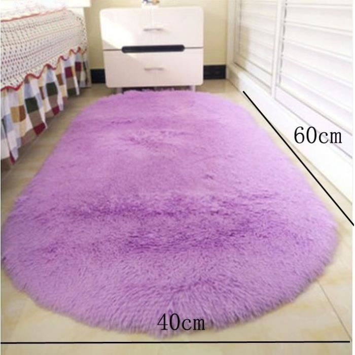 Violet Ellipse 40x60cm Tapis chambre enfant Tapis Salon du sol ...