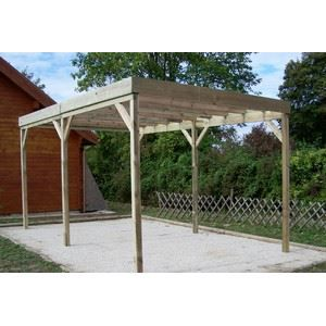 carport bois autoclav 15 m toit plat achat vente carport carport bois autoclav 15 m. Black Bedroom Furniture Sets. Home Design Ideas