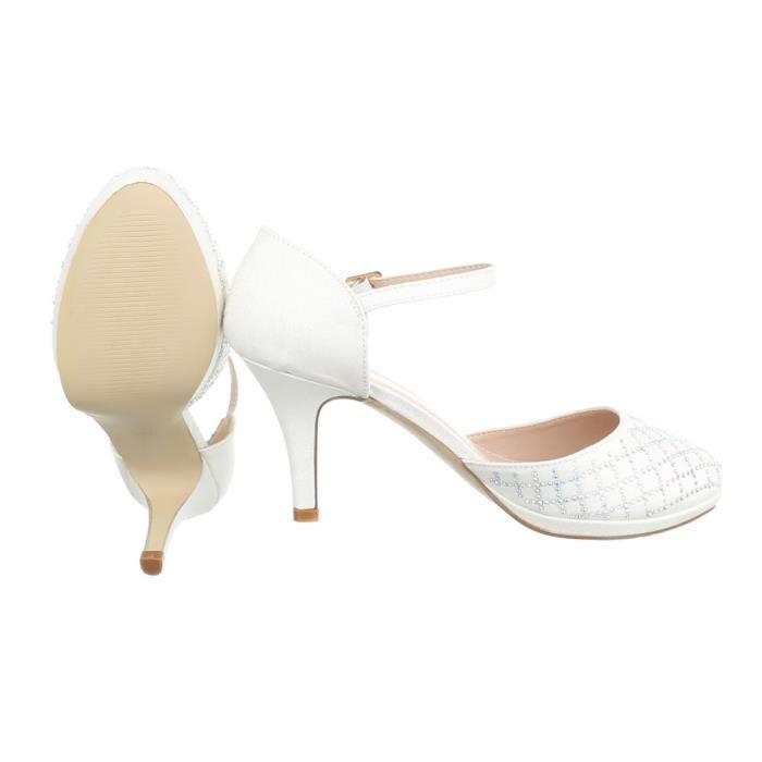 Femme chaussures escarpin High Heels blanc 41 LYl16HFS