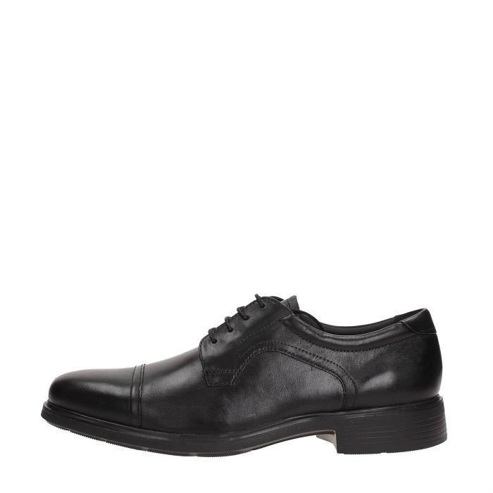 Geox Chaussures à Lacets Homme BLACK, 46 Black Achat