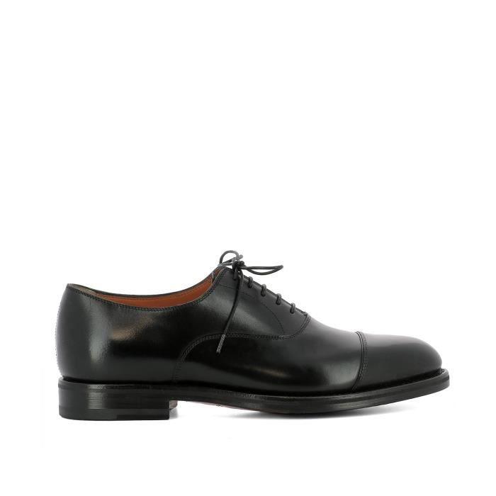 Santoni Homme Mcc14709jh3i0lcn01 Noir Cuir Chaussures À Lacets