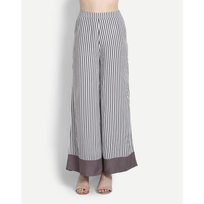Trendtwo Rayé Terro Femmes Palazzo taille haute palazzos OFMGE Taille-36