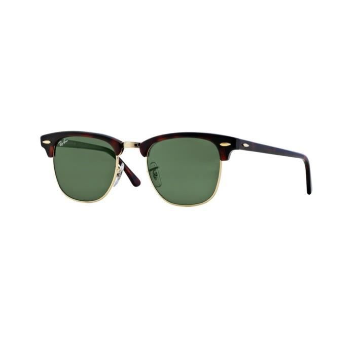 Lunettes de soleil Ray-Ban Homme CLUBMASTER RB3016 W0366 Écaille 51 x 43,9 45abce4a5aee