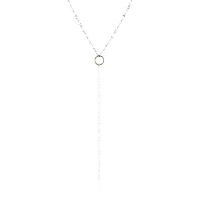 Dogeared Karma Small Ring Y-shaped Necklace, 28 XW45H