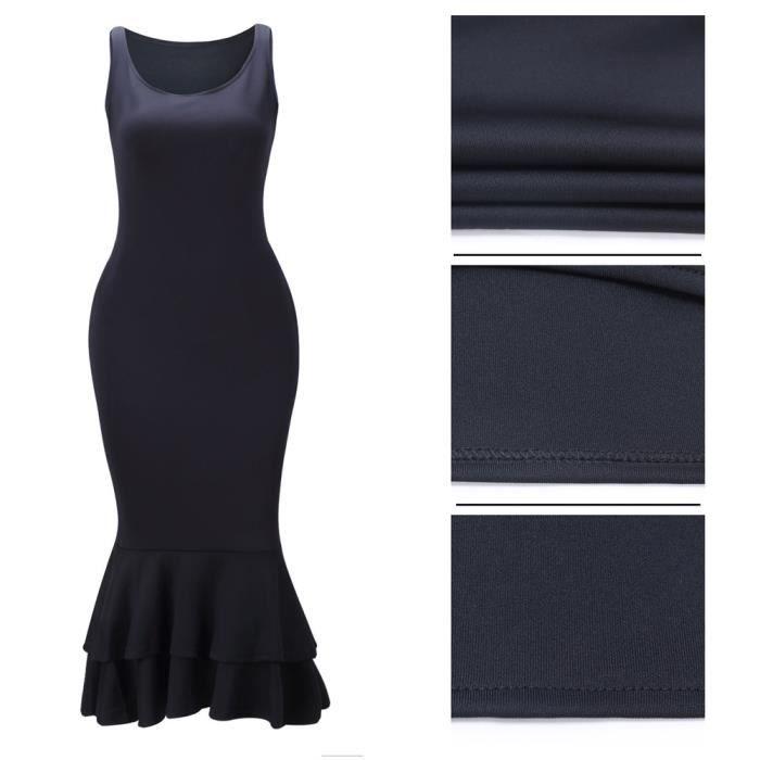 Femmes Robe Slim Mode Sans Manches Robes Longue Irrégulier Cou Rond Vetements Loisirs Personnalité Grande Taille S-XXXL