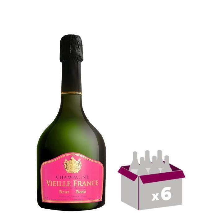 Gh martel vieille france champagne rosé 75 cl x 6