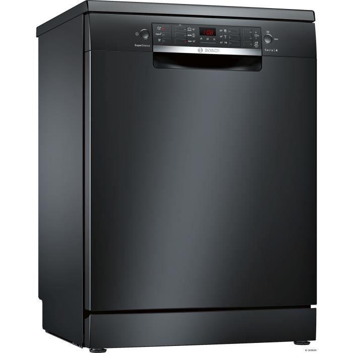 BOSCH SMS46IB17E - Lave vaisselle posable - 13 couverts - Silencieux 44 dB - A ++ - Larg 60 cm - Noir - Moteur induction