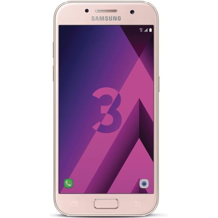 samsung galaxy a3 2017 rose achat smartphone pas cher. Black Bedroom Furniture Sets. Home Design Ideas