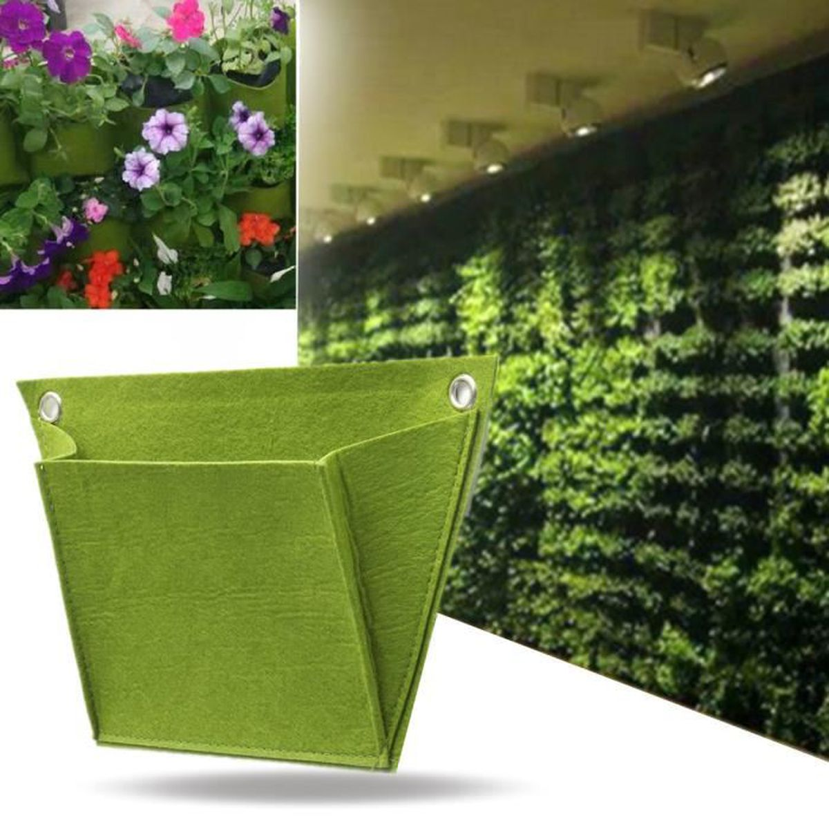 Sac de plantation v g tal mural suspendu fleur herbe for Achat plante jardin