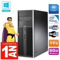 UNITÉ CENTRALE + ÉCRAN PC Tour HP Compaq 8200 Intel G630 Ram 8Go Disque 1