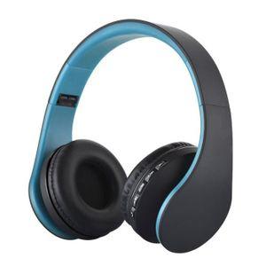 CASQUE AVEC MICROPHONE LH-811 numerique 4 en 1 multifonctions stereo sans