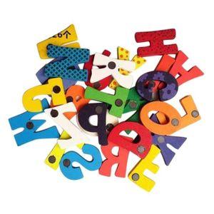 INSTRUMENT DE MUSIQUE 26 lettres en bois aimant pour réfrigérateur Carto