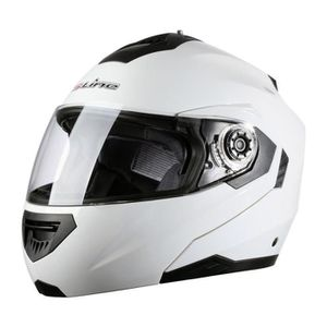 CASQUE MOTO SCOOTER Casque moto intégral modulable S520 Blanc XL adult