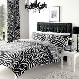 housse de couette zebre 240x260 Housse de couette noir et blanc   Achat / Vente pas cher housse de couette zebre 240x260