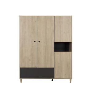 ARMOIRE DE CHAMBRE ALEXIS Armoire 4 portes - Décor bois - L 153 x P 5
