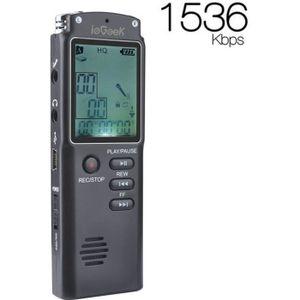 ENREGISTR. CONVERSATION IEGEEK Dictaphone Enregistreur Numérique 16Go,Doub