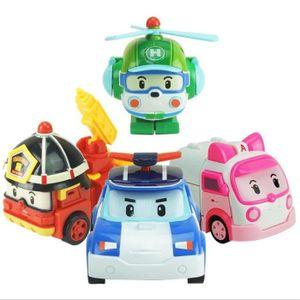 COLLE PUZZLE 4pcs  Robocar Poli robot transformation de voiture