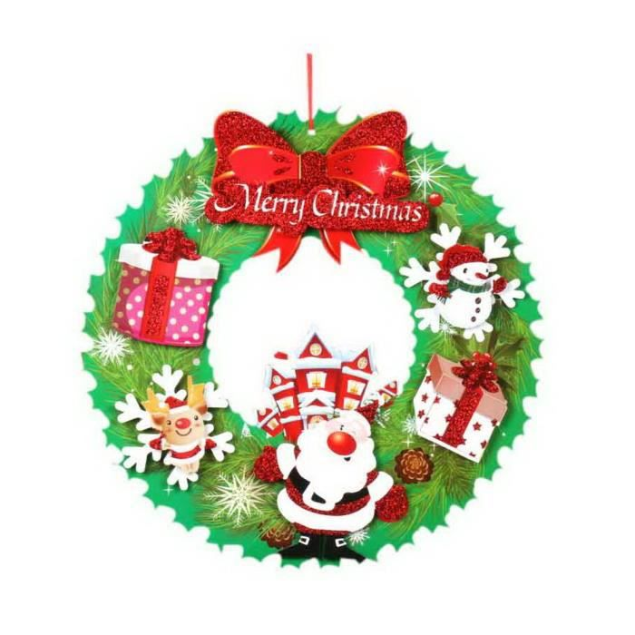 Stickers De Porte Fenetre Fenetre Decorations De Noel Couronne De