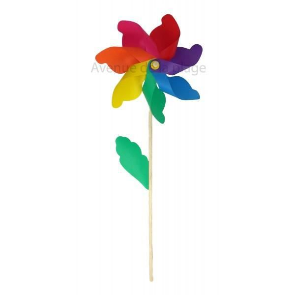 Moulin à vent fleur 42 cm - Décoration de jardin - Achat / Vente ...