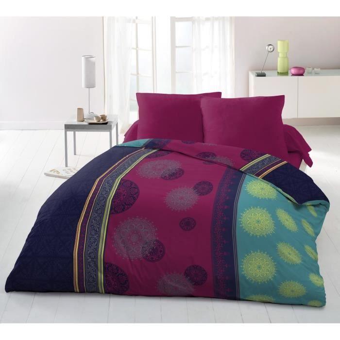 housse de couette violet achat vente housse de couette violet pas cher cdiscount. Black Bedroom Furniture Sets. Home Design Ideas