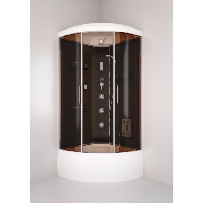 230cm hauteur enceinte de cabine de bain coin salle de bain avec plateau de douche 90x90cm. Black Bedroom Furniture Sets. Home Design Ideas
