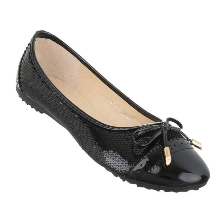 Femme ballerine chaussures Lofers Espadrilles escarpin noir 43 fQrlf3