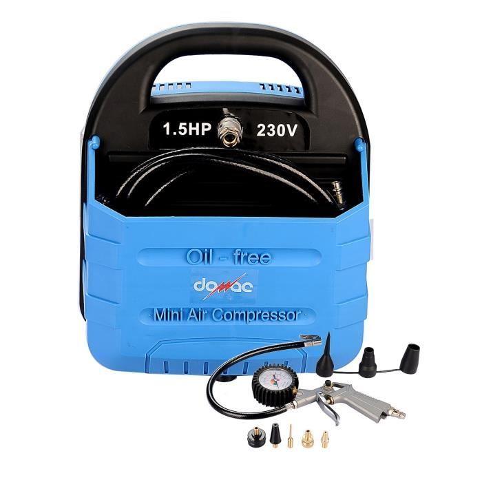 DOMAC Compresseur sans cuve 1,5 CV 1100 W 8 bars avec accessoires ... d1297f3560a3