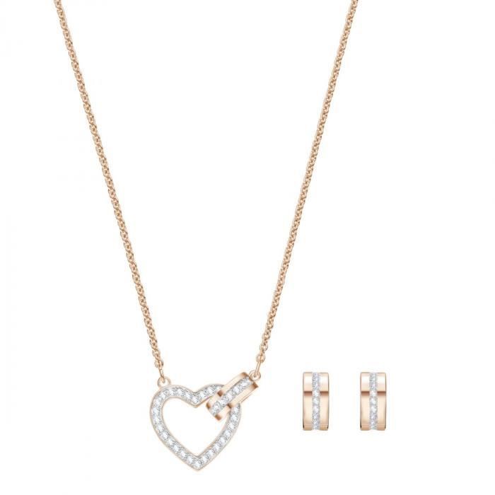 Parure Swarovski Lovely Rosé - Collier et Boucles doreiles - 5380718 Rose