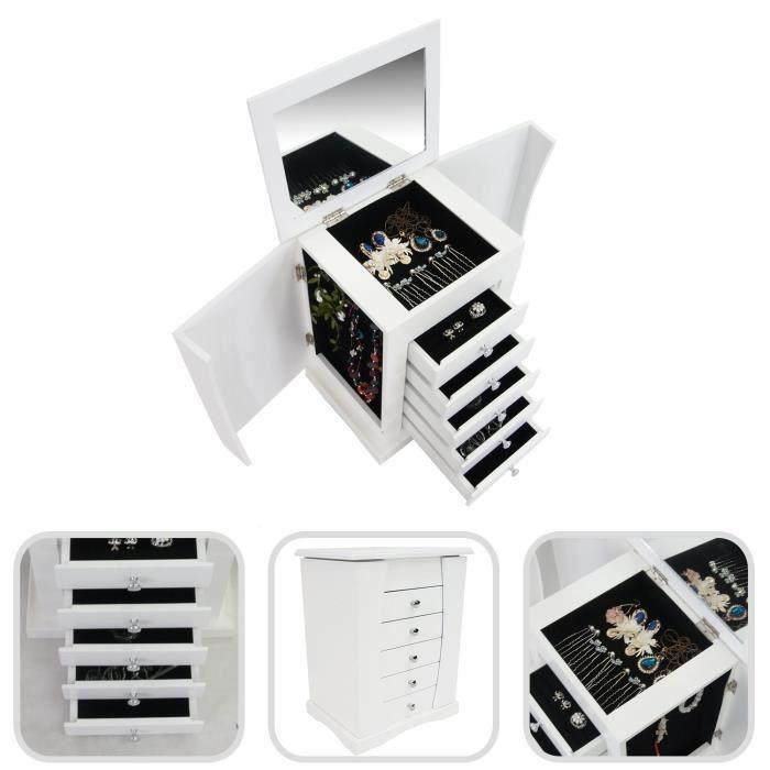 bo te bijoux avec compartiments meuble bijoux avec. Black Bedroom Furniture Sets. Home Design Ideas