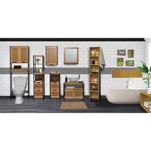 Etagere wc achat vente etagere wc pas cher cdiscount for Meuble dessus wc bambou