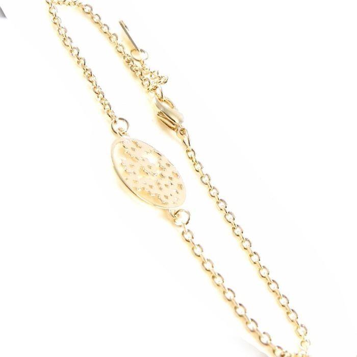 Bracelet Plaqué Or Flora