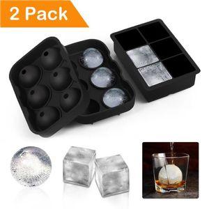 BAC - SAC A GLACONS Bac à Glaçon en Silicone - [2 Pack]Moules à Glace