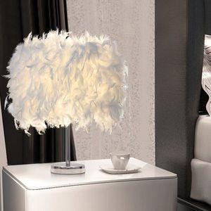 LAMPE A POSER 1PCS blanc luminaire plume,lampe de chevet, chambr