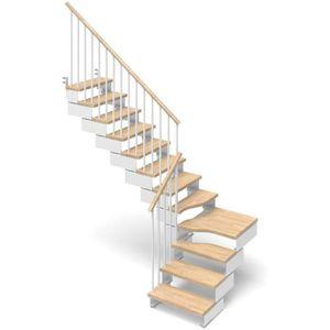 ESCALIER Escalier quart tournant 12 marches en bois massif