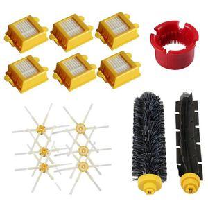 ASPIRATEUR ROBOT Jeux de brosses et brosse laterale a 6 bras et fil