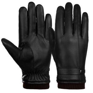 GANT - MITAINE Men Gants en cuir pour écran tactile Gants chauds ... f87bfb4bd25